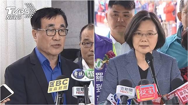 高雄市副市長李四川(左)、總統蔡英文(右)。圖/TVBS資料照