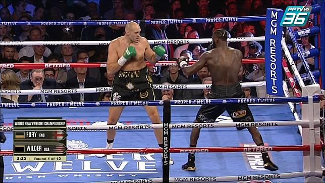 """""""ฟิวรี่"""" น็อค """"ไวล์เดอร์"""" ยก 7 คว้าแชมป์โลก WBC"""