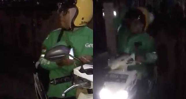 Video shows motorcycle taxi driver in Semarang hurling food at customer after long wait