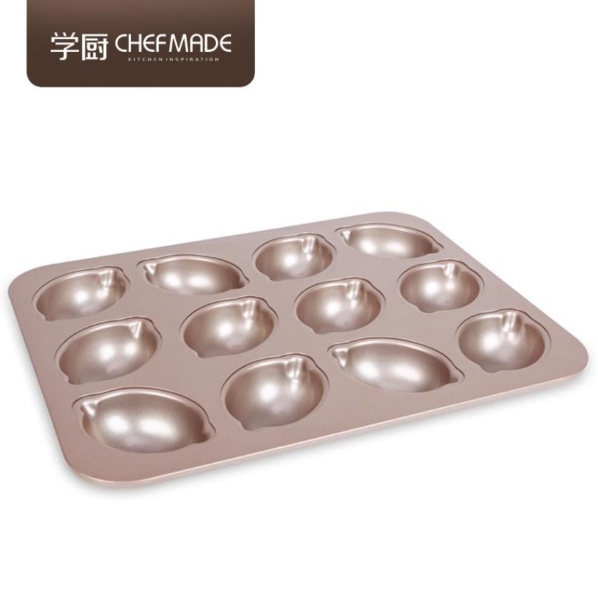 Chefmade 學廚 12連檸檬模 不沾蛋糕模 不沾檸檬模蛋糕 模檸檬蛋糕 雞蛋糕【WK9750】