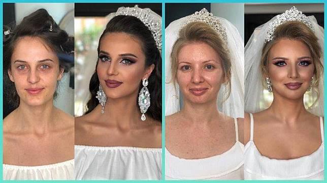 Inilah 14 Foto Pengantin Wanita Sebelum dan Sesudah Makeup