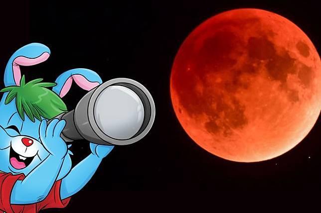 Penampakan gerhana bulan total