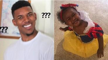 有其父必有其女!Nick Young 曬女兒萌照 網友一致表示:根本「黑人問號 2.0」!