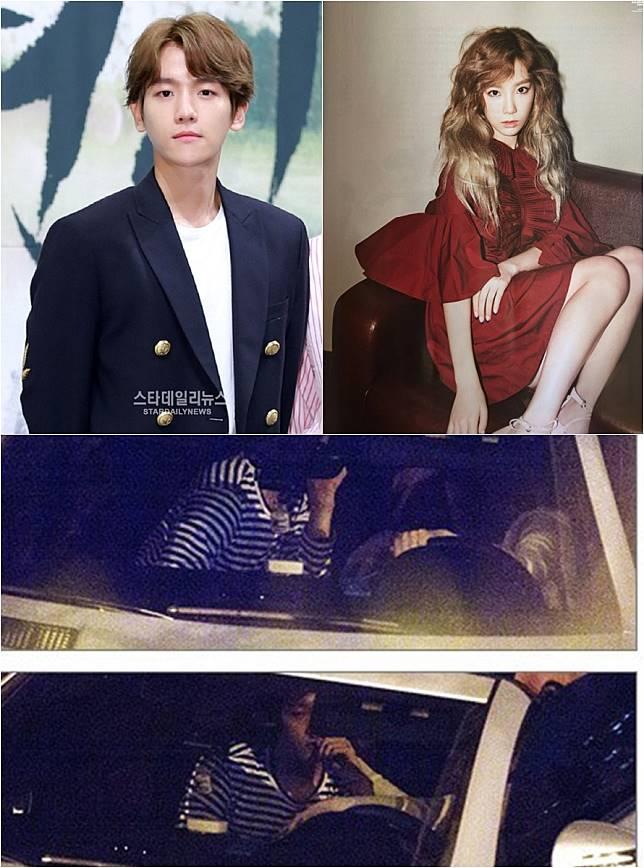 baekhyun a Taeyeon datovania reakcie