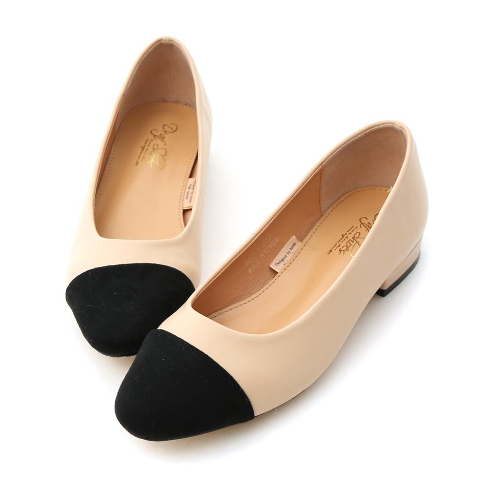 D+AF 法式典雅.小香風微方頭復古低跟鞋