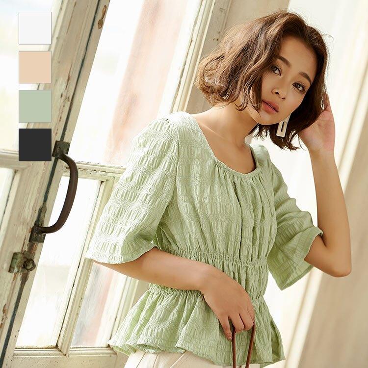 日本Kobe lettuce / 夏季浪漫娃娃裝抽皺短袖上衣 / c3949-日本必買 日本樂天直送。滿額免運(1690)