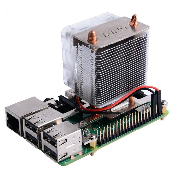 它能透過扣具安裝於主機板上的鎖孔,並透過GPIO取得5V、0.08A電源。
