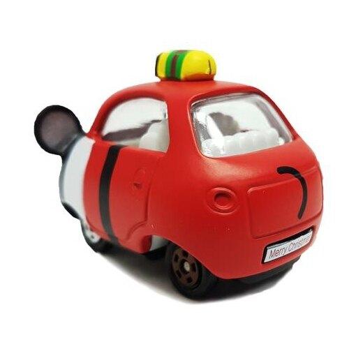 大賀屋 日貨 多美 特仕車 聖誕樹米奇 小汽車 汽車 兒童玩具 模型 Takara Tomy 正版 L00011675