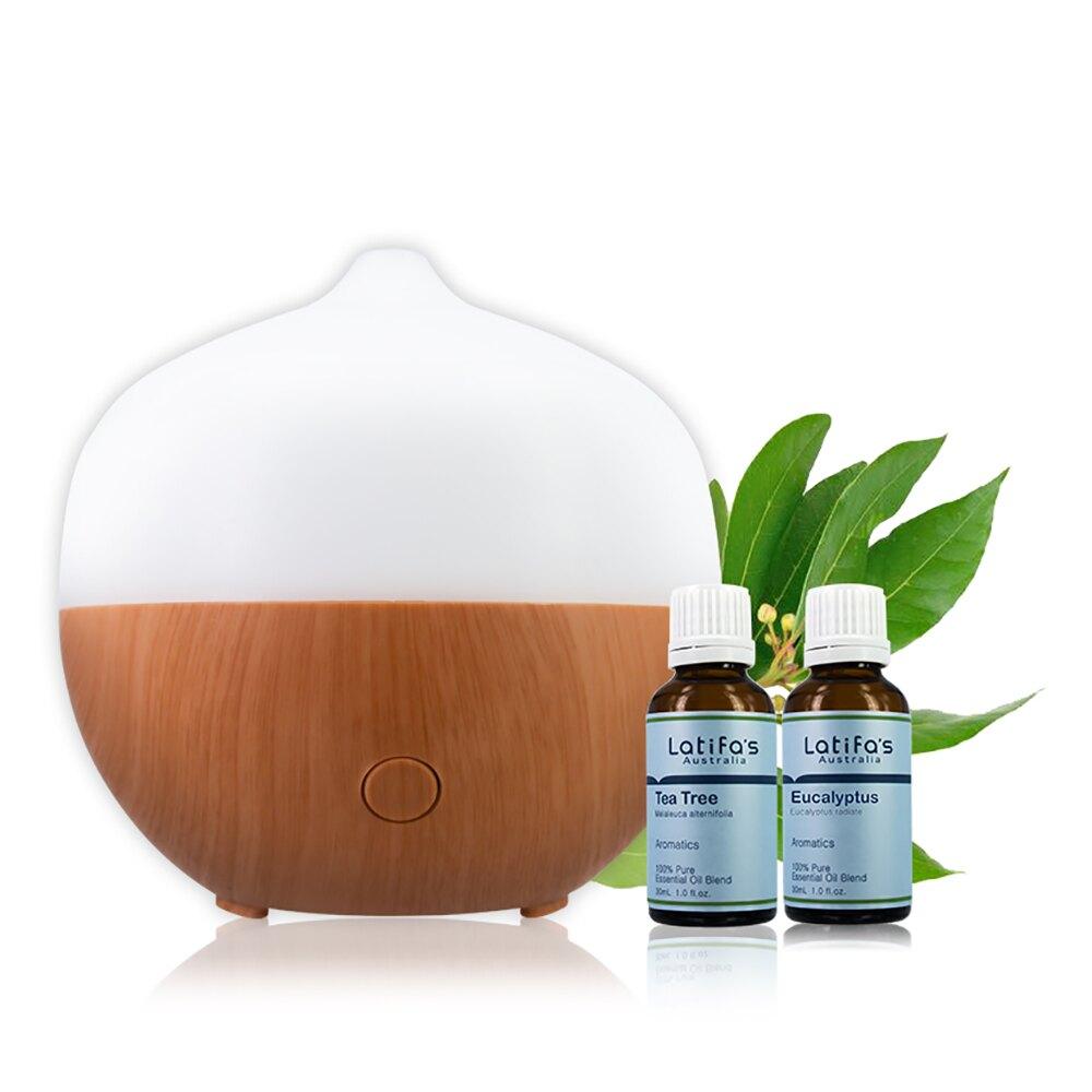 【荷柏園】HERBOX水氧機+茶樹精油 30ml(或)尤加利精油 30ml