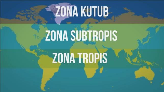 Yang bisa merasakan salju, hanya dua zona saja. Hayo, zona yang mana saja?