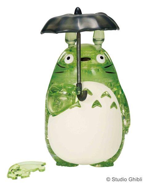 【拼圖總動員 PUZZLE STORY】龍貓(綠) 日本進口拼圖/Beverly/吉卜力/42P/立體透明塑膠