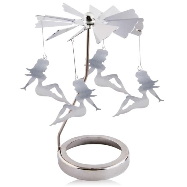 歐沛媞 歐式旋轉燭罩蠟燭台-銀-性感女郎 加贈YANKEE CANDLE 香氛蠟燭49g