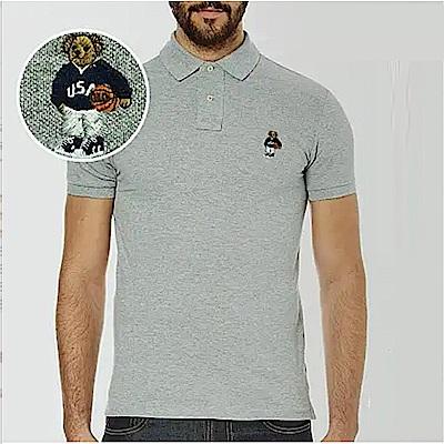 Polo Rlaph Lauren 年度熱銷限定泰迪熊刺繡短袖Polo衫-灰色