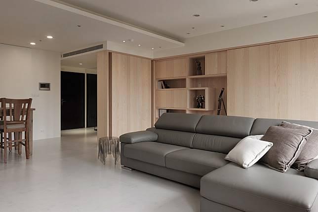 現代風暖木客廳