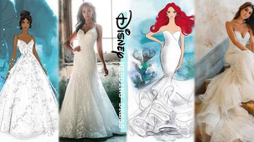 Allure Bridals將「迪士尼公主婚紗」實體化!實現少女夢想,打造純白公主婚禮~