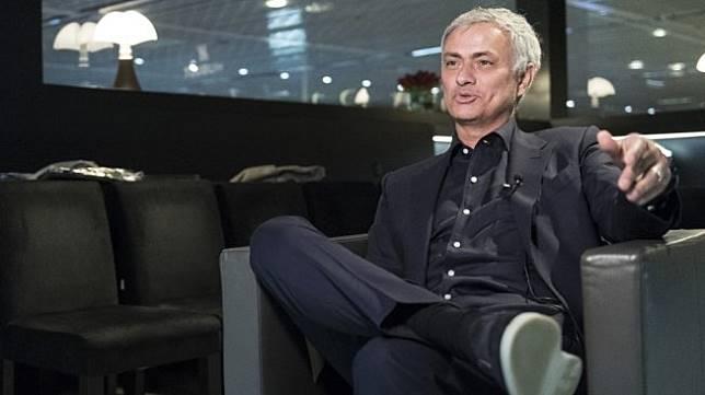 Mantan manajer Manchester United, Jose Mourinho. [SEBASTIEN BOZON / AFP]