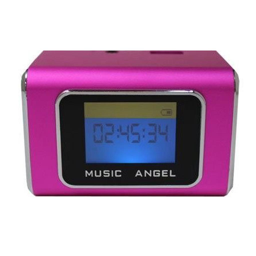 音樂天使MD-05X 粉色, 含繁體中文字幕鋁合金音箱喇叭撥放器,優雅的線條演繹,具有時尚外型和便簡設計,可在喇叭本體後方雙插槽使用TF記憶卡與USB隨身碟當MP3記憶體使用,TF記憶卡與USB隨身碟