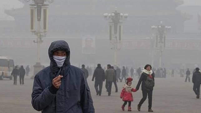 Ilustrasi polusi udara di kota Beijing (AP/NG Han Guan)