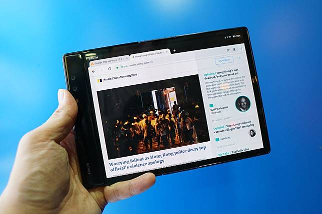 World's first' foldable phone reviewed - and it's not a