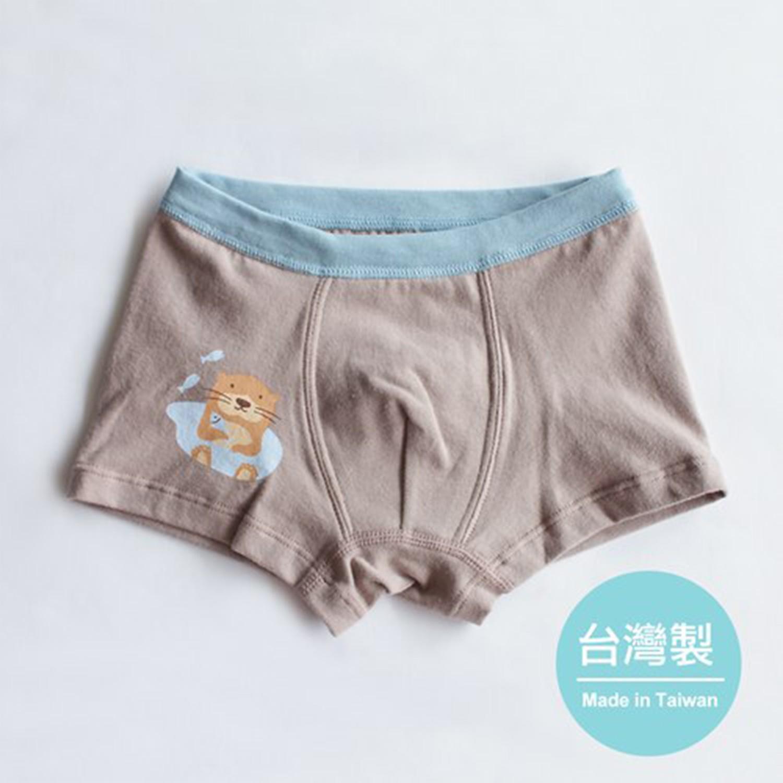 minihope美好的親子生活 - 愛玩耍的水獺男童四角褲