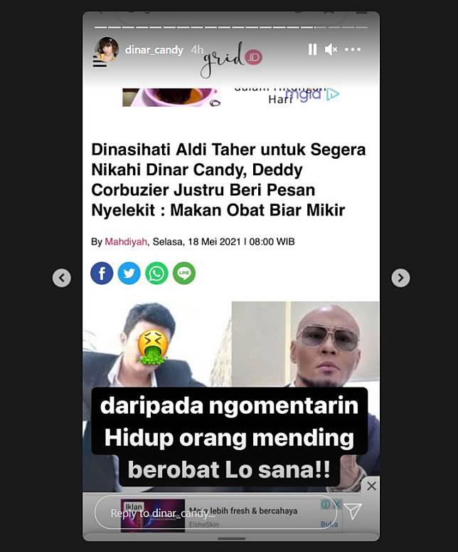 Diminta Nikahi Deddt Corbuzier, Dinar Candy Minta Aldi Taher Berobat