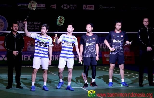 Jelang All Indonesian Final di China Open 2019, Ini Rekor Pertemuan Ahsan/Hendra vs Marcus/Kevin