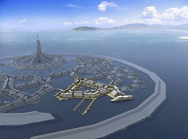 Ini rencana mengenai kota terapung yang akan terwujud di tahun 2020 (dok. boredpanda)