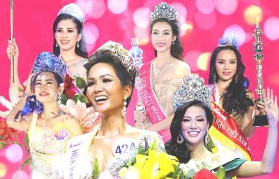 Khoảnh khắc lên ngôi Hoa hậu: H'Hen Niê thay đổi ấn tượng, Tiểu Vy đẹp nhất