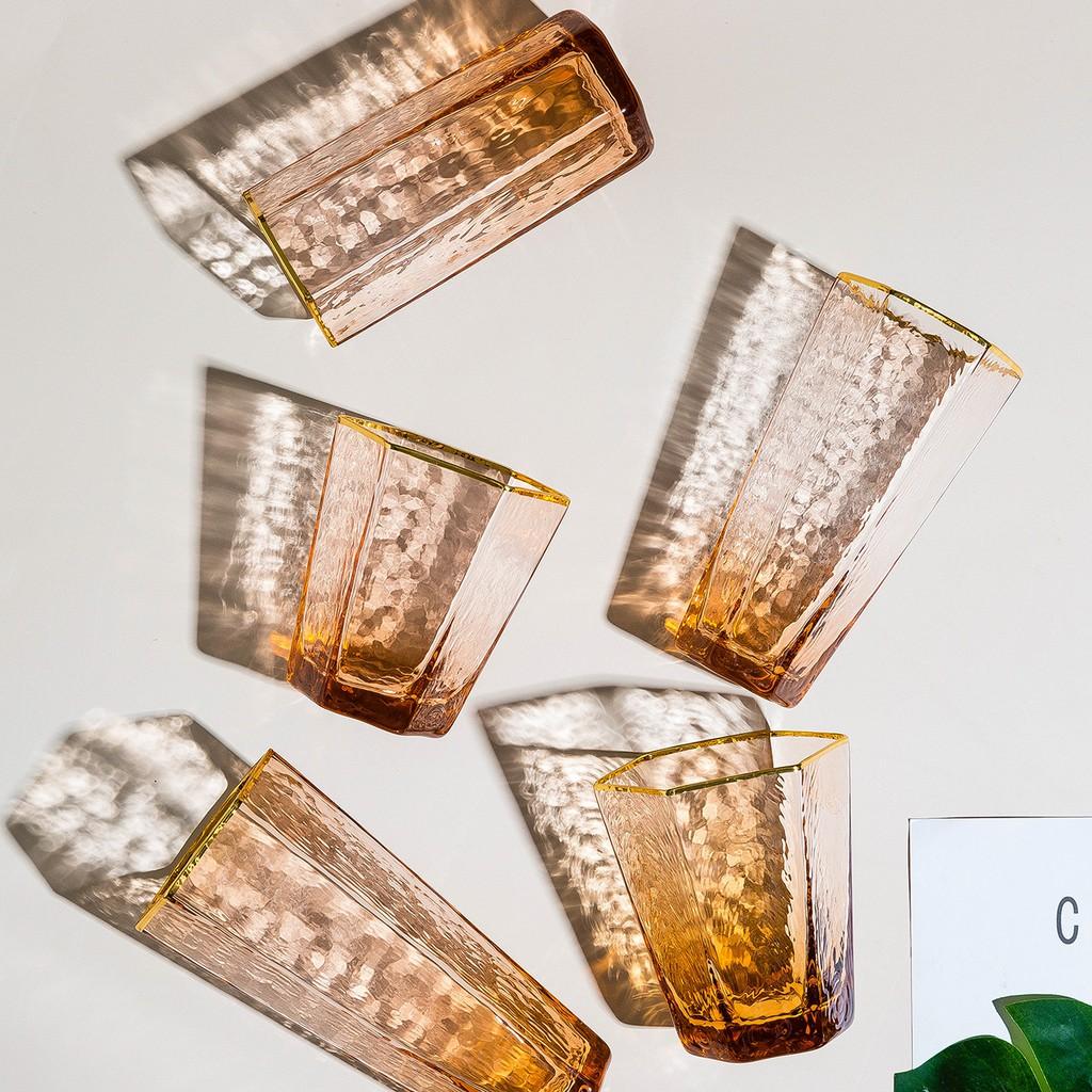 摩登主婦 香楓六角玻璃杯 酒杯香檳杯女 高腳杯飲料杯家用水杯