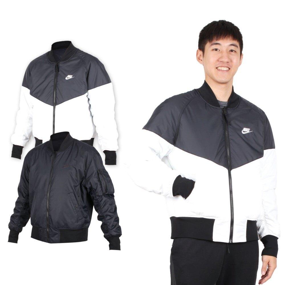 NIKE 男雙面棒球外套 (免運 兩面穿 長袖上衣 長袖 束口【03391339】≡排汗專家≡