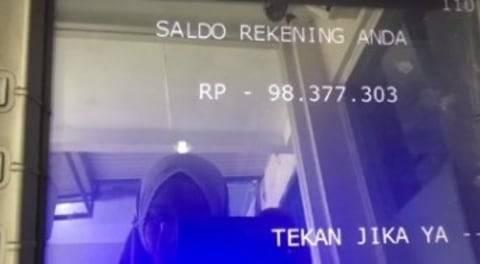 Aneh, Saldo Rekening Wanita Ini Minus Rp98 Juta saat Narik Uang dari ATM