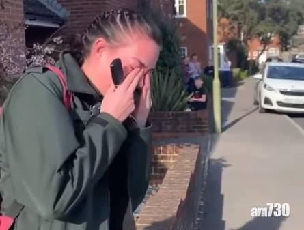 【新冠肺炎】上班前獲鄰居夾道鼓掌  英女救護員感動落淚(有片)
