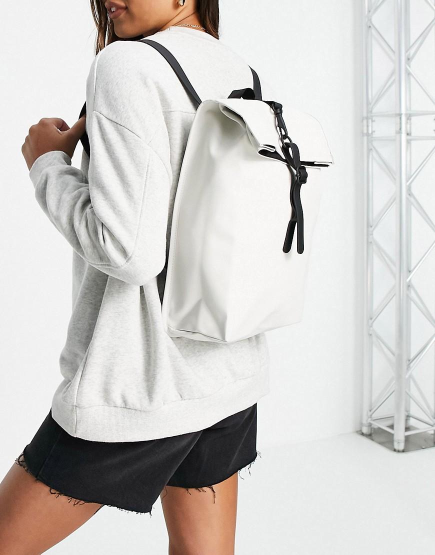Rains rolltop mini bag in off white