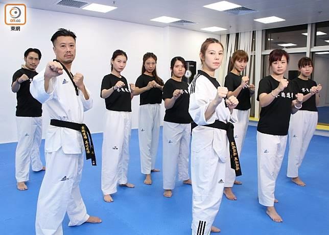 跆拳道加健身訓練,可透過深層動作幫助消脂。(張錦昌攝)