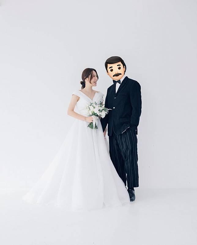 Yukilovey上載婚照。