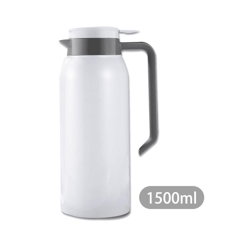 全新飲水體驗!1.5L不鏽鋼真空保溫壺,健康咖啡壺,裝鮮活好水。可單手操作,輕鬆倒水,出水快且流暢,有效避免水蒸氣燙手,舒適按鍵,不鏽鋼內裡,安全放心。