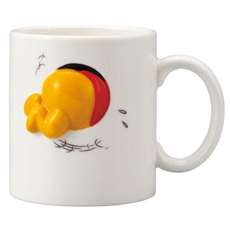 日本正版 小熊維尼吃蜂蜜 陶瓷馬克杯 320ml