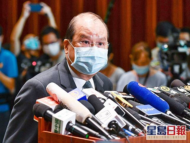 張建宗強調香港有能力、有決心、有信心抵禦無理的恐嚇,無懼外國提出的制裁和威脅。網圖