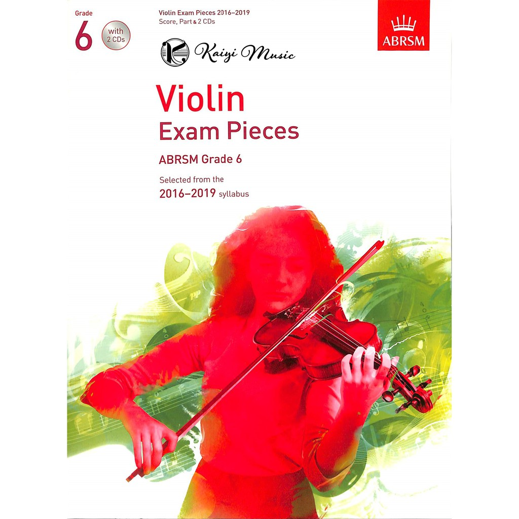 中文書名:英國皇家 2016-2019小提琴考試指定曲 第6級(測驗範例+CD) 英文書名:ABRSM Violin Exam Pieces 2016-2019, Grade 6, Score, Pa
