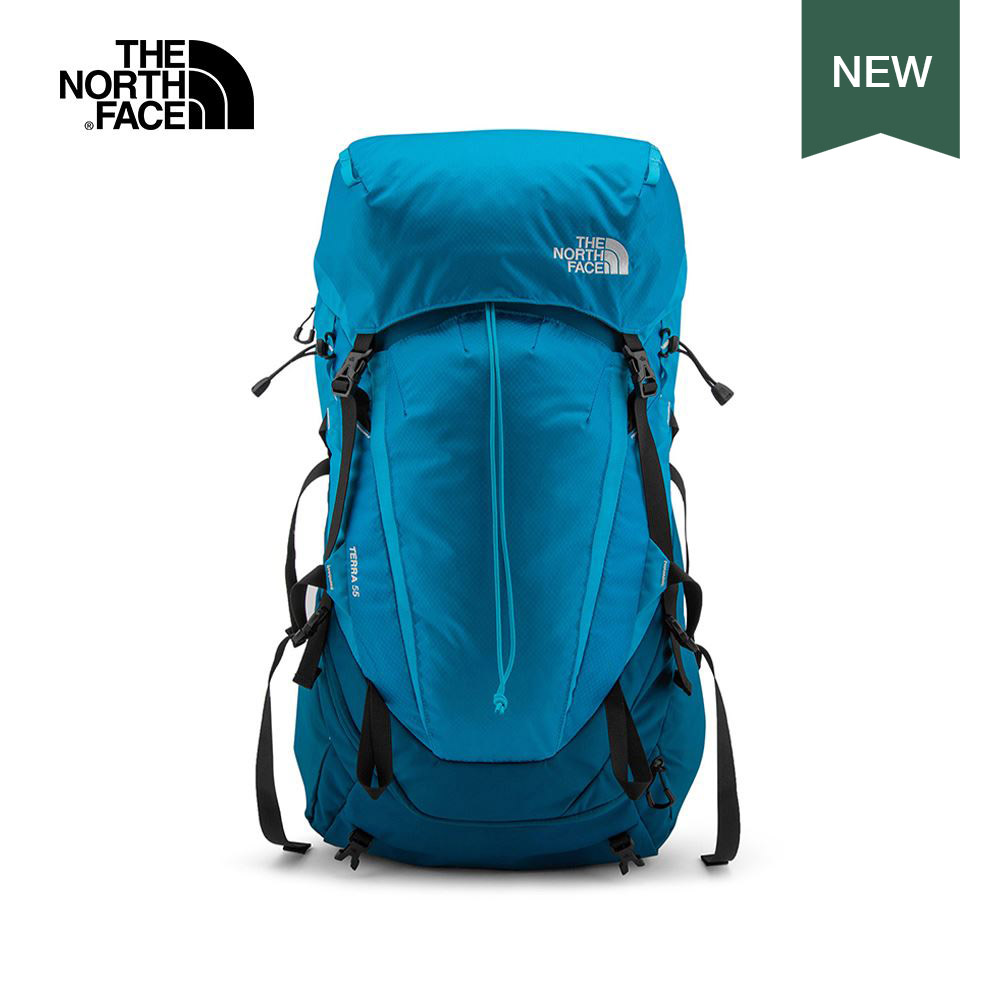 The North Face北面男女款藍色專業登山後背包|3GA60J2