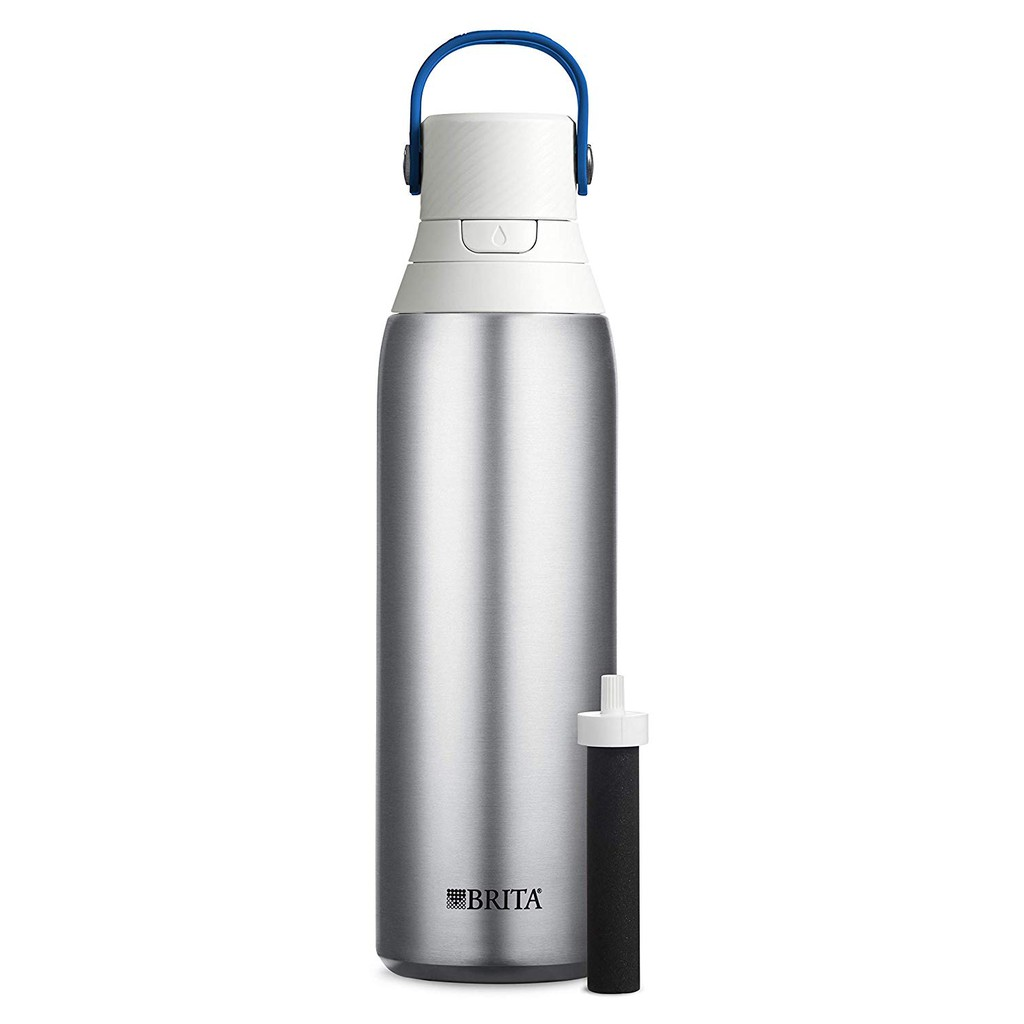 FILTERED WATER ANYWHERE: With car cup holder-friendly design, the bottle stays cold for a full 24 ho