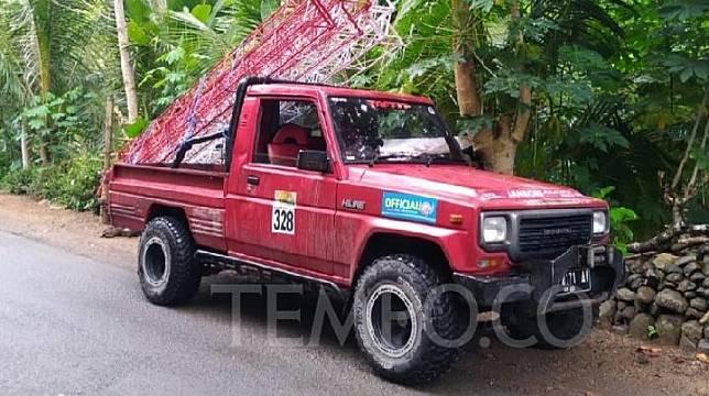 Daihatsu Taft Hiline pikap lansiran 2002 milik anggota komunitas Taft Diesel Indonesia (TDI) Jogja, Muhammad Nur Hidayat. Tempo/Pribadi Wicaksono