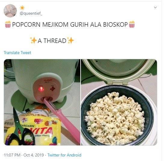 Praktis Dan Mudah Begini Cara Membuat Popcorn Ala Bioskop Versi Warganet