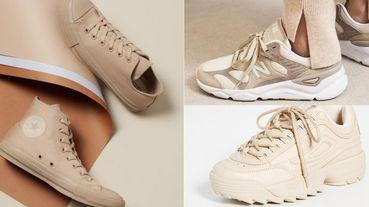 Converse推出全新「溫柔奶茶色」鞋款日韓妞搶翻!比小白鞋更好搭、更顯白的8款奶茶色鞋款推薦