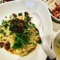 汁なし担々麺 - 実際訪問したユーザーが直接撮影して投稿した西新宿四川料理四川料理 天府舫の写真のメニュー情報