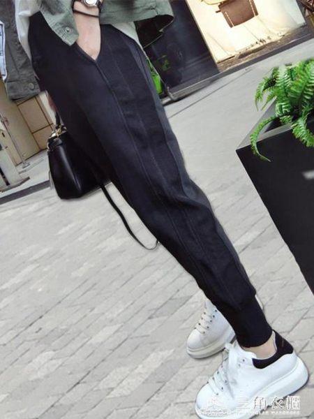 運動褲女韓版寬鬆哈倫褲百搭蘿卜休閒女褲子
