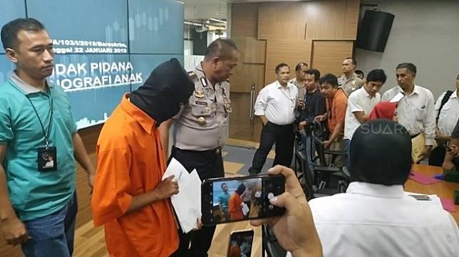 TR (25), narapidana yang masih menjalani hukuman tepergok melakukan aksi pencabulan terhadap anak. [Suara.com/Yosea Arga Pramudita]