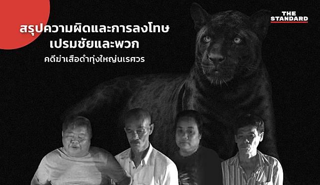 สรุปความผิดและการลงโทษเปรมชัยและพวก คดีฆ่าเสือดำทุ่งใหญ่นเรศวร