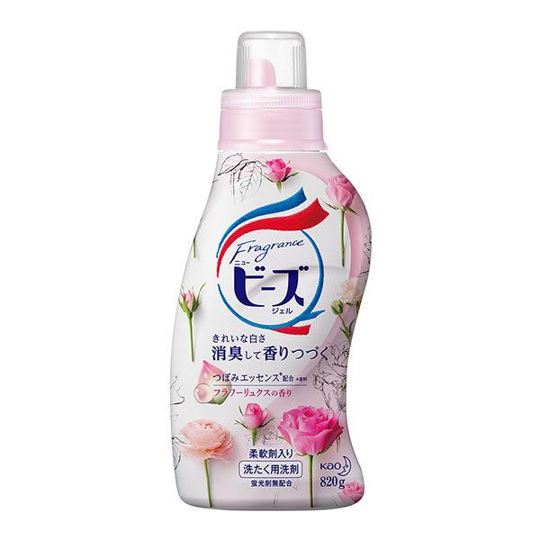 日本花王Beads植萃香氛洗衣精初綻玫瑰香820G康是美