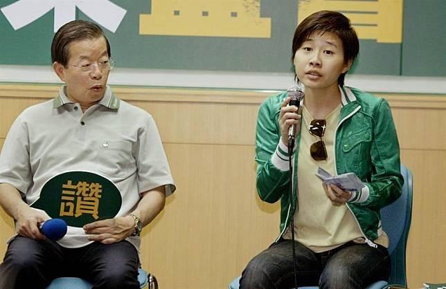 圖為駐日代表謝長廷(左)、「卡神」楊蕙如(右)。(資料照片,姚志平攝)